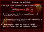 interpretation outlooks