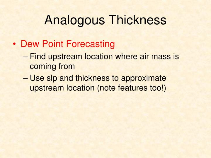 Analogous Thickness