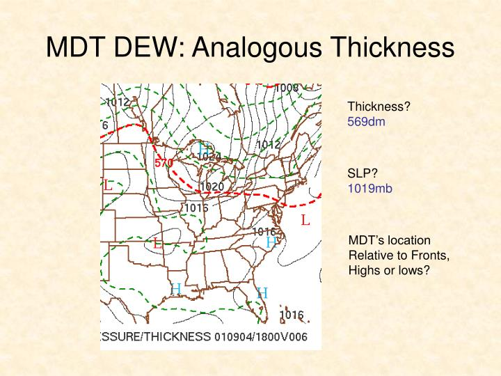 MDT DEW: Analogous Thickness