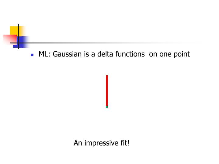ML: Gaussian is a delta functions  on one point