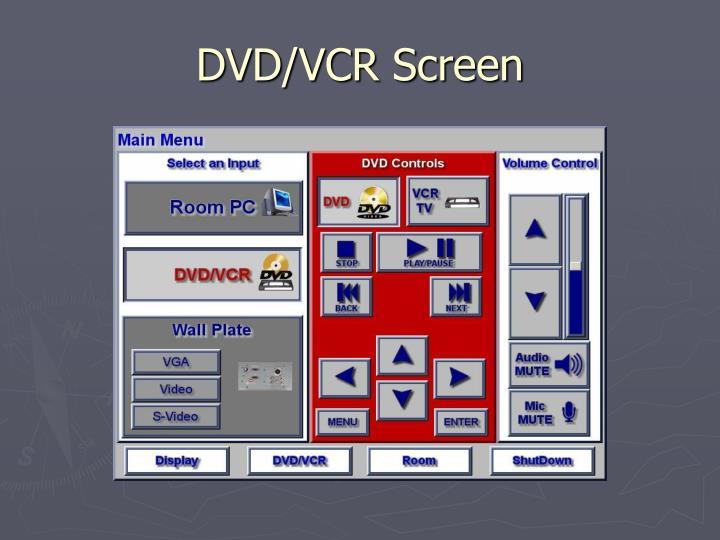 DVD/VCR Screen