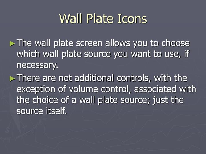 Wall Plate Icons