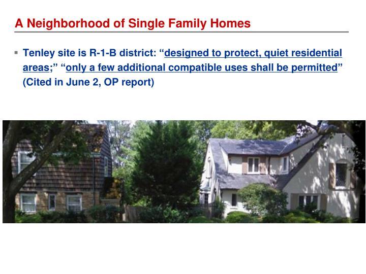 A Neighborhood of Single Family Homes