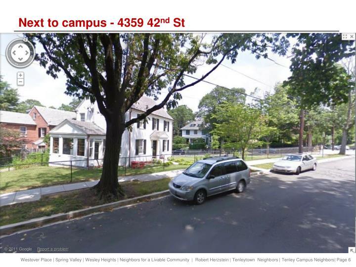 Next to campus - 4359 42