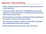 objections traffic and parking