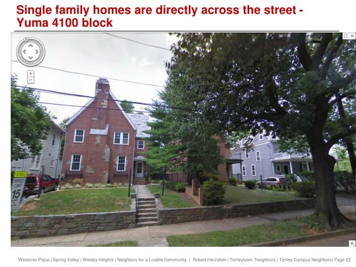 Single family homes are directly across the street - Yuma 4100 block