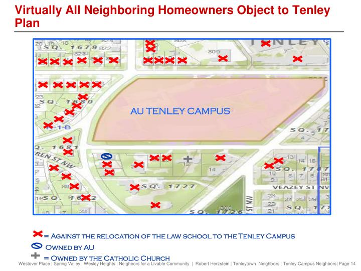 Virtually All Neighboring Homeowners Object to Tenley Plan