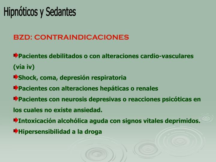 Hipnóticos y Sedantes