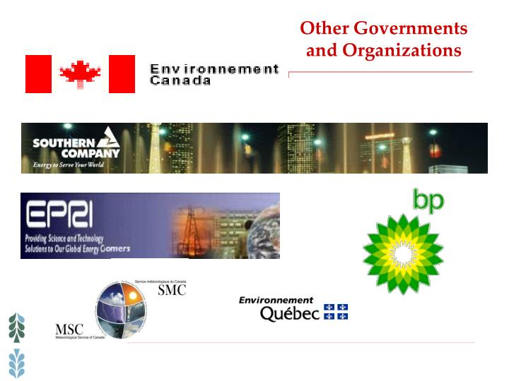 Other Governments and Organizations