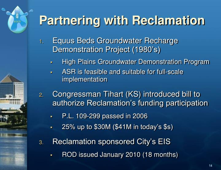 Partnering with Reclamation