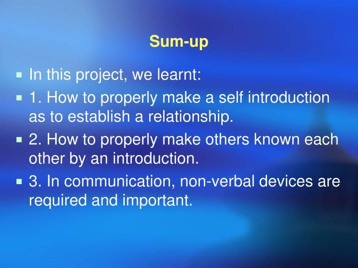 Sum-up