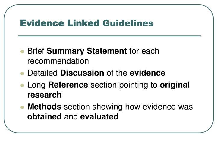 Evidence Linked