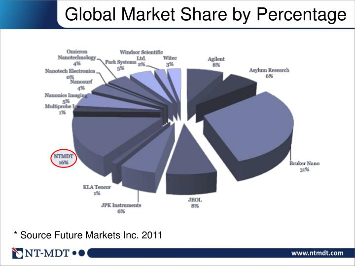 Global Market Share by Percentage