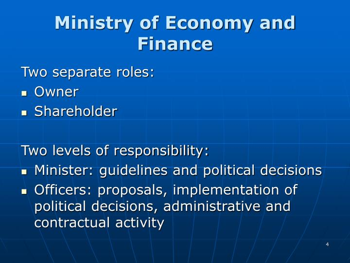 Ministry of Economy and Finance