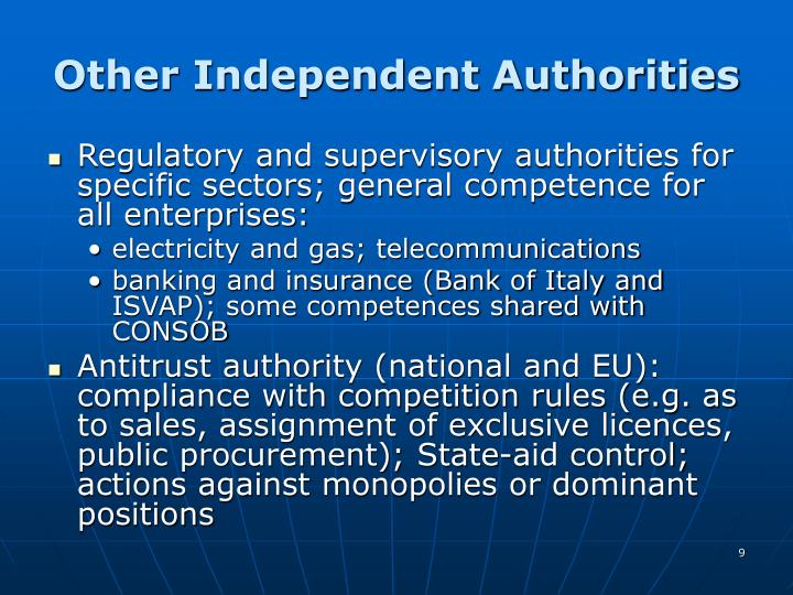 Other Independent Authorities