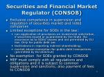 securities and financial market regulator consob