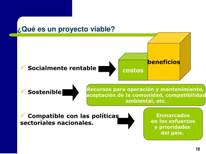 ¿Qué es un proyecto viable?
