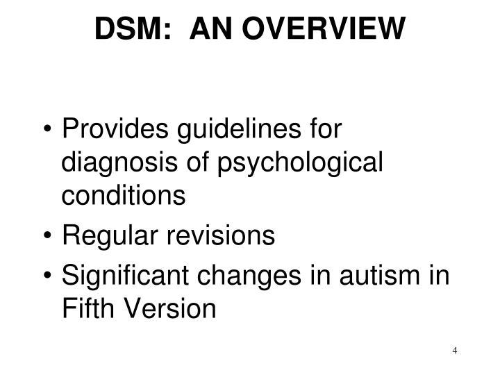 DSM:  AN OVERVIEW