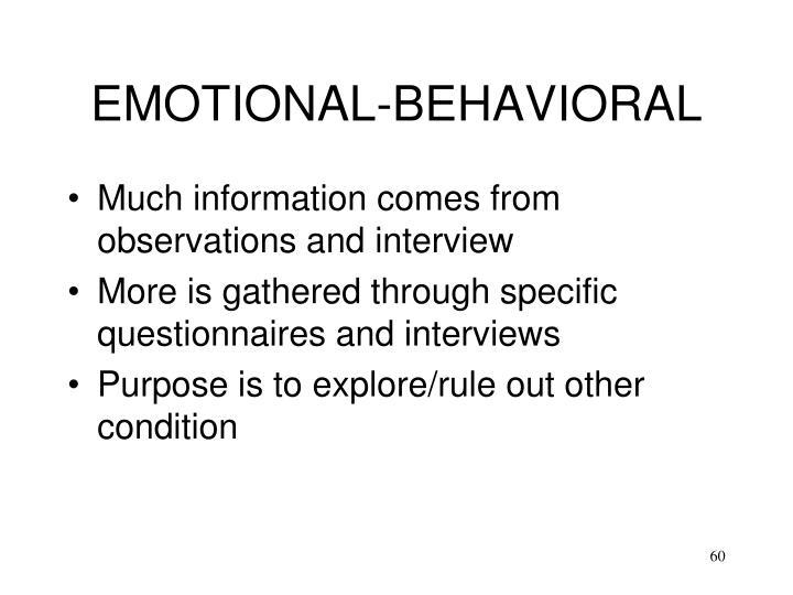EMOTIONAL-BEHAVIORAL