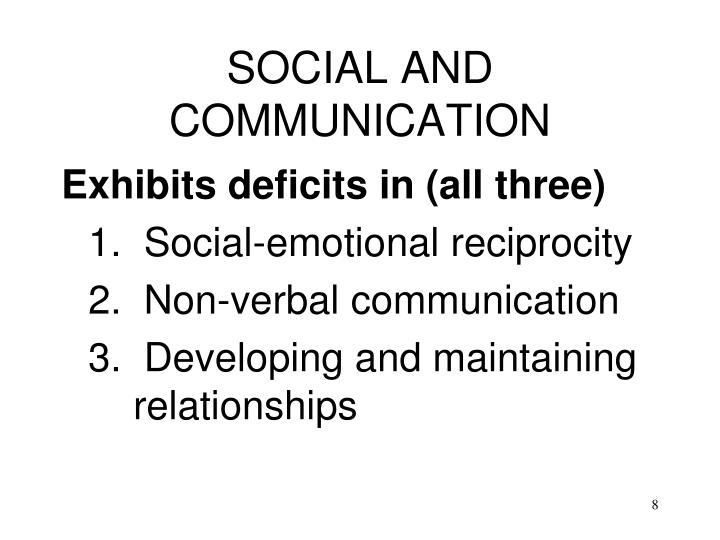 SOCIAL AND COMMUNICATION
