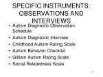 specific instruments observations and interviews