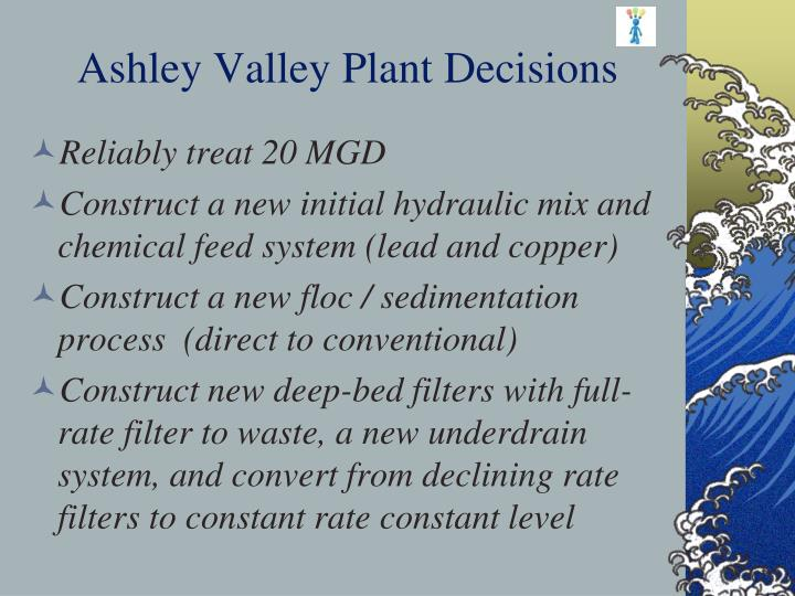 Ashley Valley Plant Decisions