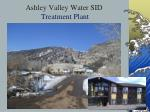 ashley valley water sid treatment plant
