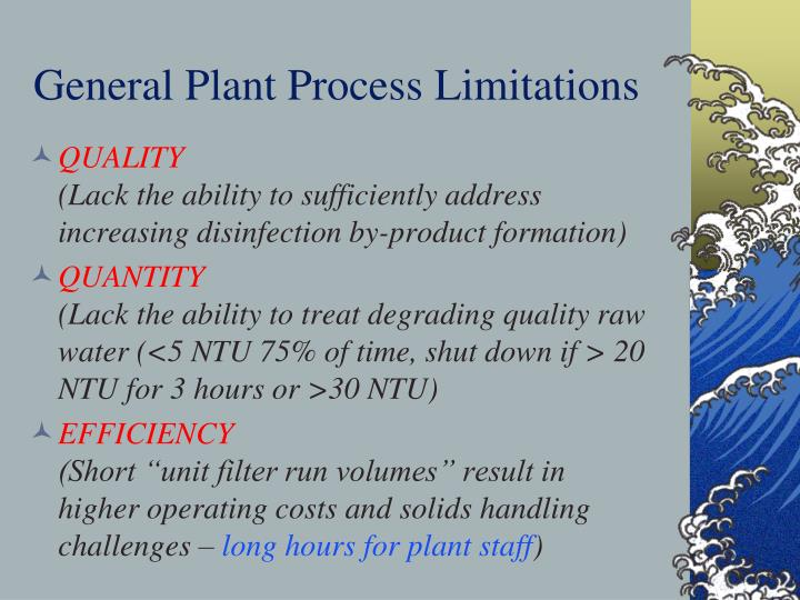 General Plant Process Limitations