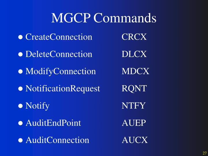 MGCP Commands