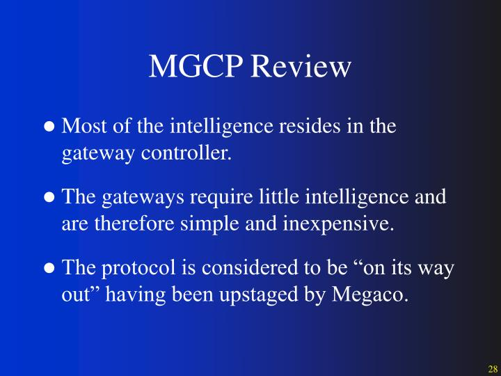 MGCP Review