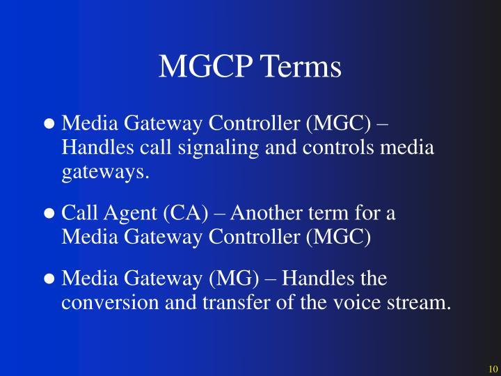 MGCP Terms