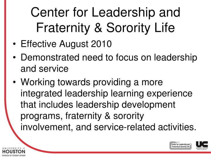 Center for Leadership and Fraternity & Sorority Life