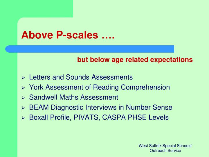Above P-scales ….