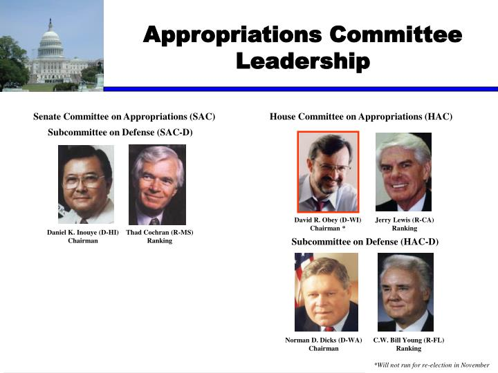 Appropriations Committee Leadership