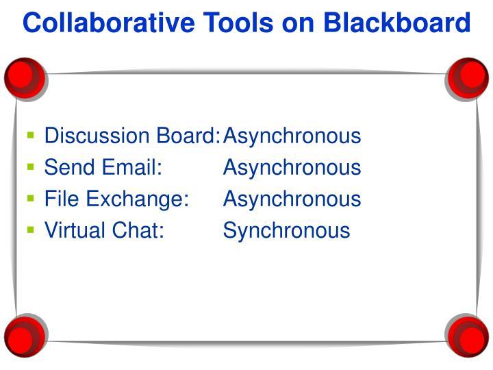 Collaborative Tools on Blackboard