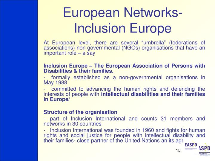 European Networks- Inclusion Europe