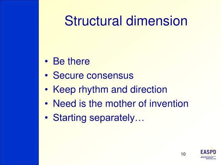 Structural dimension
