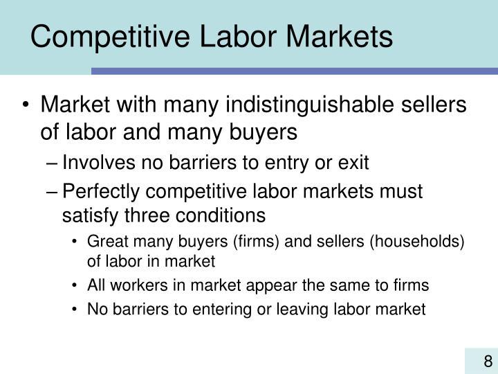 Competitive Labor Markets