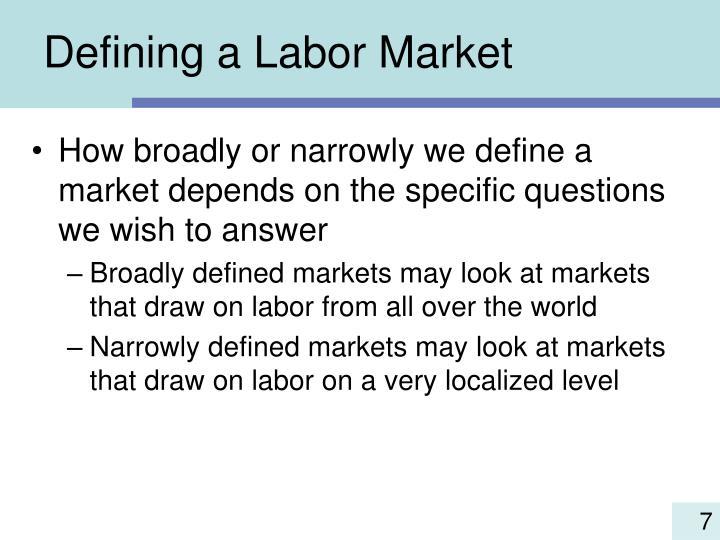 Defining a Labor Market