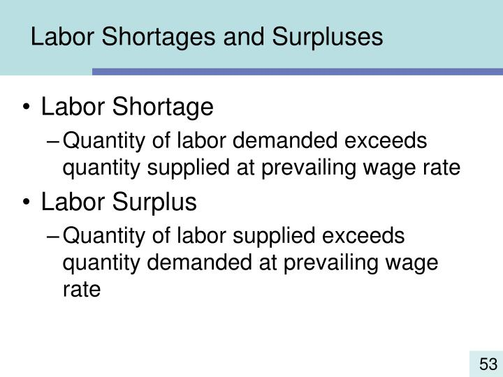 Labor Shortages and Surpluses