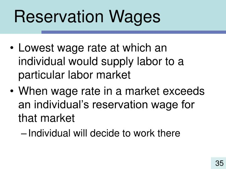 Reservation Wages