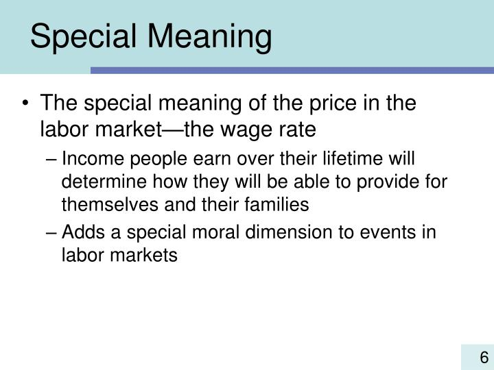 Special Meaning