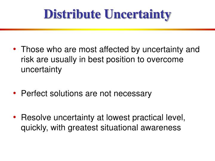Distribute Uncertainty