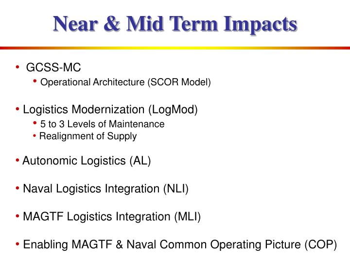 Near & Mid Term Impacts