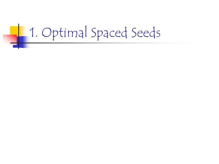1. Optimal Spaced Seeds