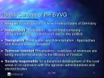 basic concept of the bvvg