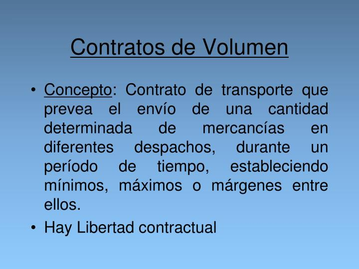 Contratos de Volumen
