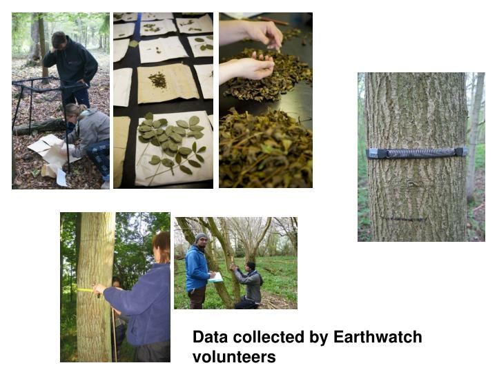 Data collected by Earthwatch volunteers