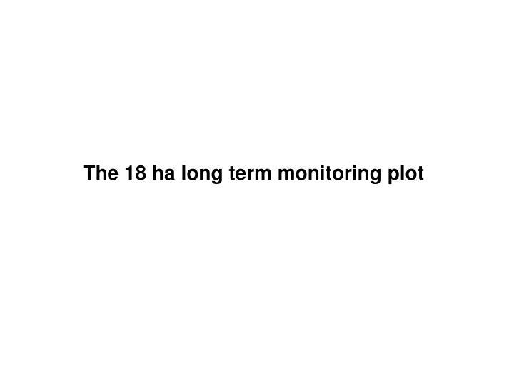 The 18 ha long term monitoring plot