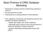 basic premise of crm database marketing